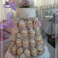 Cupcake wedding tower