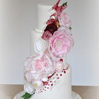 Wedding Cake: Wafer Paper Flowers