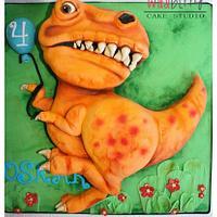 Orange Dinosaur Cake