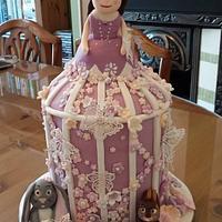 Princess Sofia birdcage birthday cake