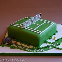 Tennis Court Cake With Edible Net