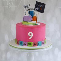 Project Mc2 theme buttercream cake