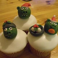 an angry bird christmas