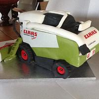 """Combine Harvester- Happy Birthday to a first """"CLAAS"""" lad!"""
