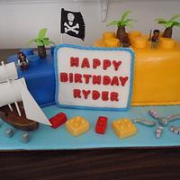 Lego pirate cake