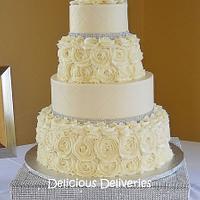 Buttercream Rosette Wedding Cake