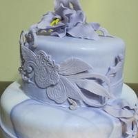purple B-day cake