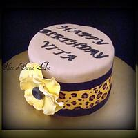 Floral and Leopard Print Cake by Slice of Sweet Art