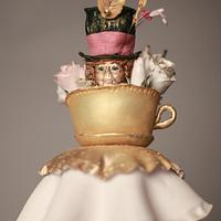 Alice In Wonderland Whoppa Inspired Cake  by Riviera Couture Cake Company
