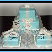 Tiffany Inspired Graduation Cake