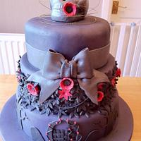 Goth's 40th Cake by GazsCakery
