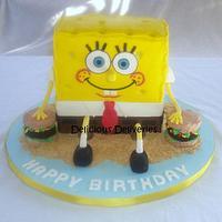 Spongebob Squarepants cake by DeliciousDeliveries