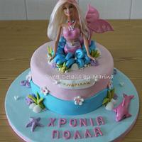 Barbie Merliah theme cake