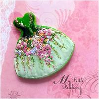 Spring dress cookie