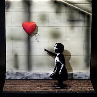 Banksy 3D sugar model - artistic movement collaboration