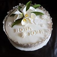 wedding cake callas