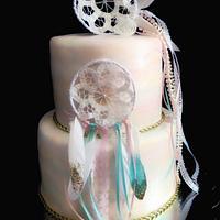 Watercolor Bohemian Cake