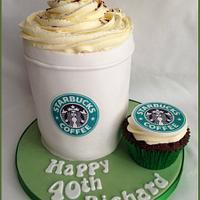 Starbucks Coffee Cup Cake