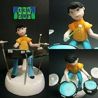 Drummer Boy Cake Topper