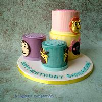 Stacking cups toy inspired cake