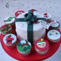 Christmas Themed Birthday Cake