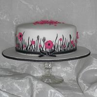 Monochrome meadow cake.