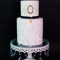 Vintage Ruffles Wedding Cake