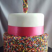 1st Birthday Sprinkle Cake