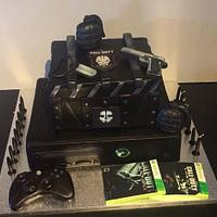 xbox call of duty cake