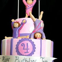 Gymnast Birthday Cake