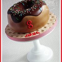 Giant Doughnut Cake by Sam