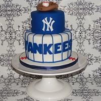 NY Yankees Groom's Cake