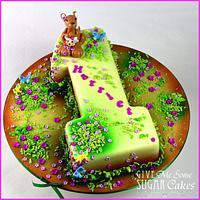 Kangaroo 1st Birthday cake + matching smash cake