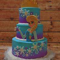 Elsa 8th Birthday Cake