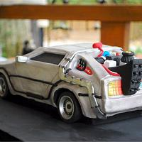 Back to the Future DeLorean Groom's Cake!