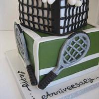 wimbledon anniversary cake by iriene wang