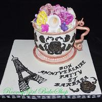 Paris Tea Cup by Maria @ RooneyGirl BakeShop