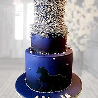 Silhouette dragee cake