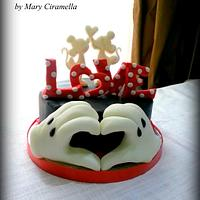 Minnie e Mickey love cake- San Valentine Disney