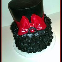 Black and Red Bridal Shower