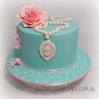 Tiffany Cameo Cake