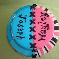 Boy/Girl Twin Cake by Nessa Dixon