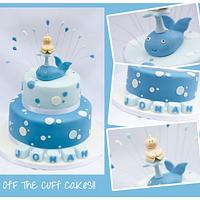 Jonah and the Whale christening cake