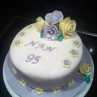Ladies birthday flower cake