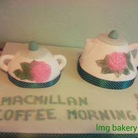 macmillan coffee morning teapot cake