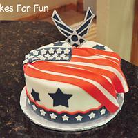 Patriotic Cake - Airforce