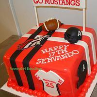 Varsity Football Teen Birthday Cake by Maria @ RooneyGirl BakeShop