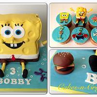 3d spongebob and cupcakes  by June milne