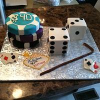 Vegas Birthday Cake by TastyMemoriesCakes