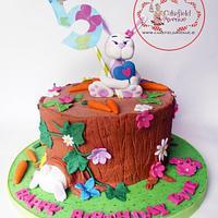 CUTE BUNNY RABBIT CAKE